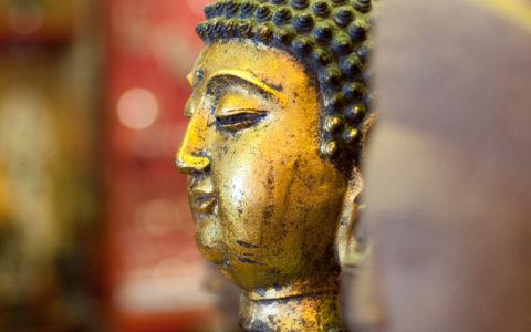 Bronzen Boeddha beeld