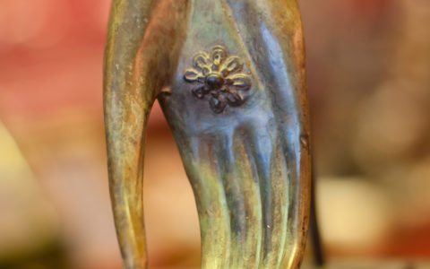 Hand van boeddha (brons) - Thailand