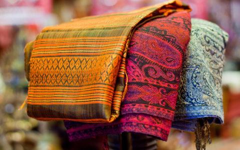 Wollen sjaals - India