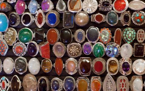 Ringen met echte stenen - diverse landen