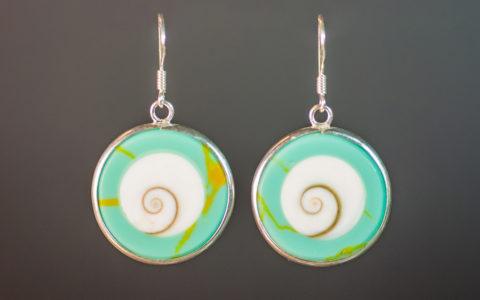 oorbellen geperst turquoise