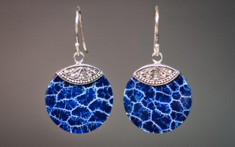 Oorbellen blauw schuimkoraal