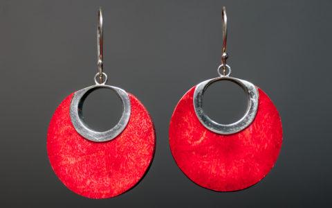 Oorbellen rood schuimkoraal