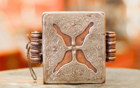 Amulet doos brons oud - Bhutan