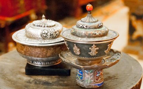Theepot met emaille - Tibet