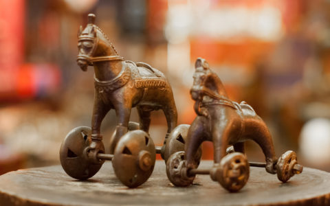 Speelgoed paardjes brons - India
