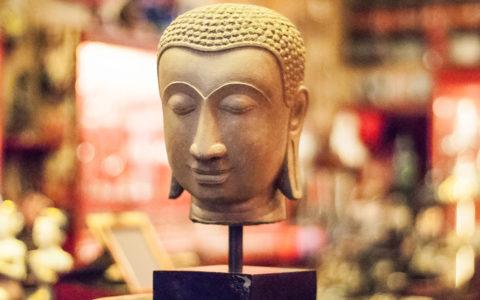 Boeddha hoofd zandsteen - Thailand