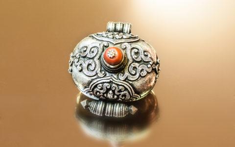 Amulet doos - Tibet