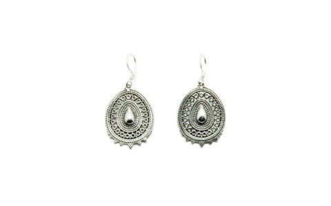 Oorbellen India zilver